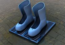 На улице москвичи смогут согреть ноги в электрических валенках