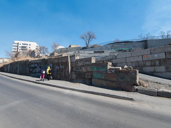 Полсотни подпорных стен во Владивостоке оказались бесхозными